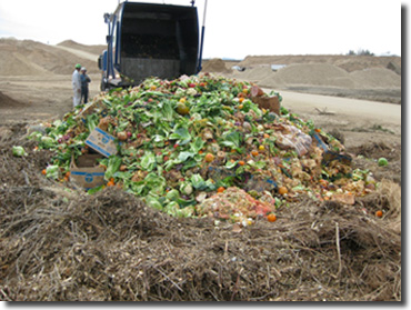 A delivery of food waste