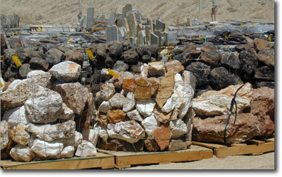 Pallets of Rock